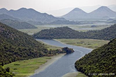 area del Lago Scutari e del fiume Morača