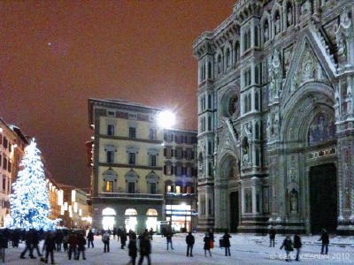 neve: piazza duomo