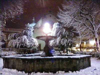 neve: piazza santo spirito